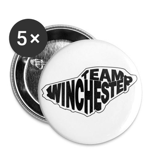 Team Winchester (light) Buttons - Buttons large 2.2''/56 mm (5-pack)