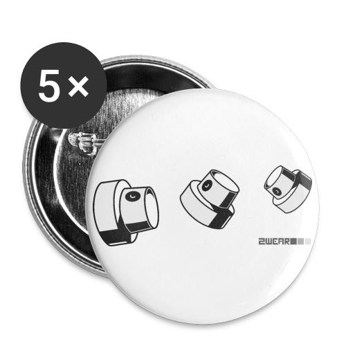 Fat Caps Flow - Buttons/Badges stor, 56 mm (5-pack)