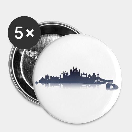 Mallorca Skyline - Buttons groß 56 mm (5er Pack)