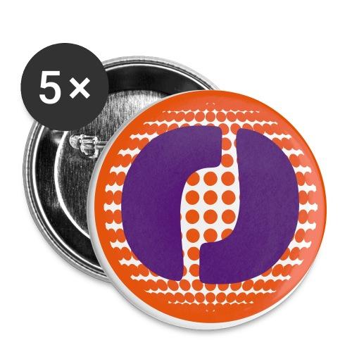 komplett - Buttons groß 56 mm (5er Pack)