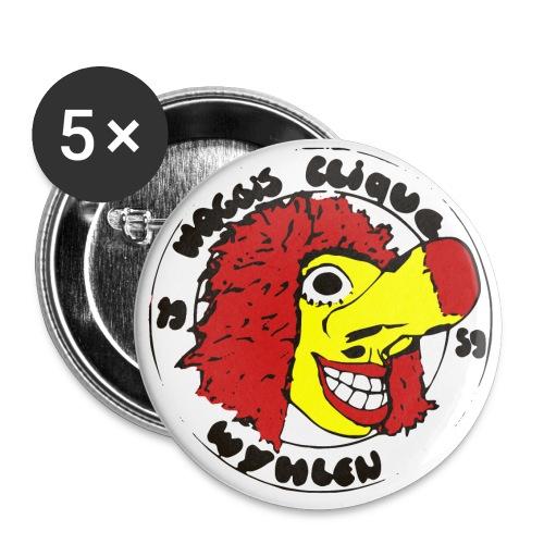 Foto3 Logo 80er voll bunt - Buttons groß 56 mm (5er Pack)