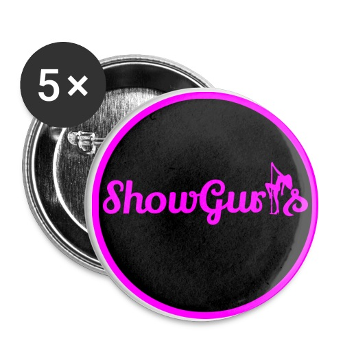 Showgurls Circle - Buttons/Badges stor, 56 mm (5-pack)