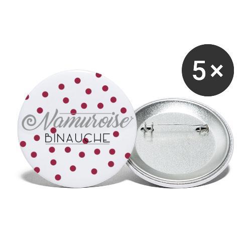 namuroise binauche - Lot de 5 grands badges (56 mm)
