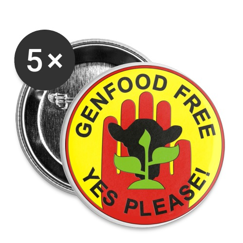 GENFOOD FREE - YES PLEASE! - Buttons groß 56 mm (5er Pack)