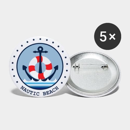 NAUTIC BEACH - Buttons groß 56 mm (5er Pack)