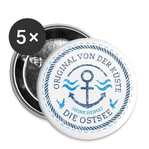 Ich bin ein Original von der Ostsee - Buttons groß 56 mm (5er Pack)