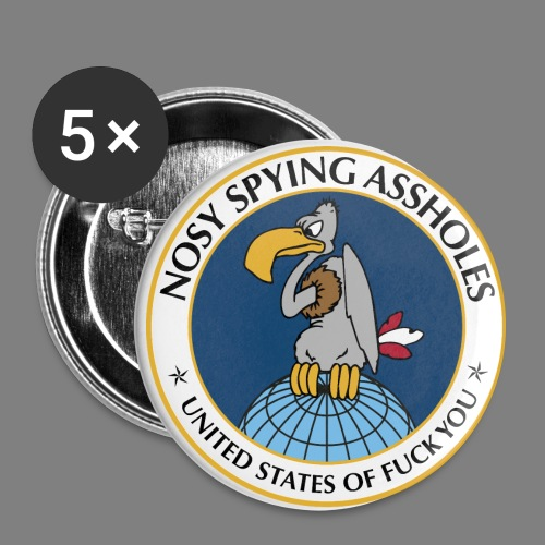 NSA - Buttons groß 56 mm (5er Pack)