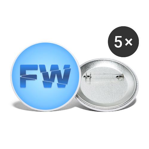 Square Logo - Buttons large 2.2''/56 mm(5-pack)