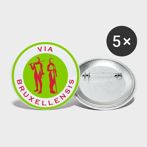 ViaBxl - Lot de 5 grands badges (56 mm)