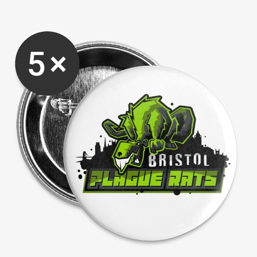 Bristol Plague Rats - Buttons large 2.2''/56 mm(5-pack)
