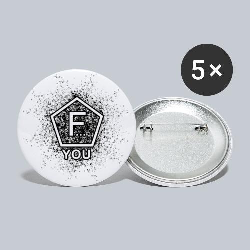 F... YOU - Buttons groß 56 mm (5er Pack)