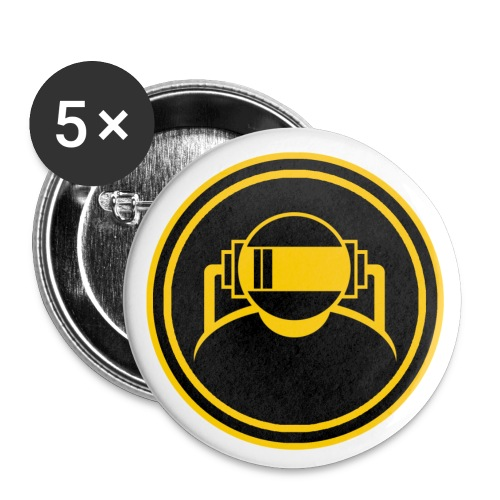 Machine Boy Yellow - Buttons large 2.2''/56 mm(5-pack)