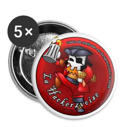 Hackerzvoise by Pierfilippo - Buttons large 2.2''/56 mm(5-pack)