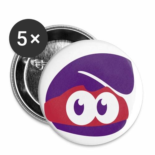 supercapotetete3colorstete - Lot de 5 grands badges (56 mm)