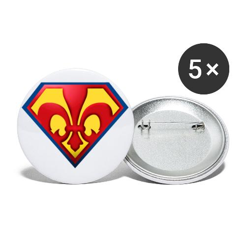 Fabulous Scout - Lilie im Wappen - Buttons groß 56 mm (5er Pack)