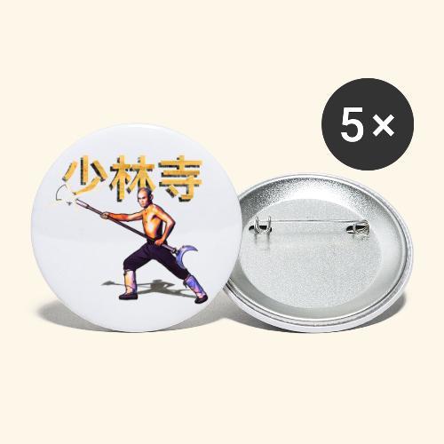 Gordon Liu som San Te - Warrior Monk - Buttons/Badges stor, 56 mm (5-pack)