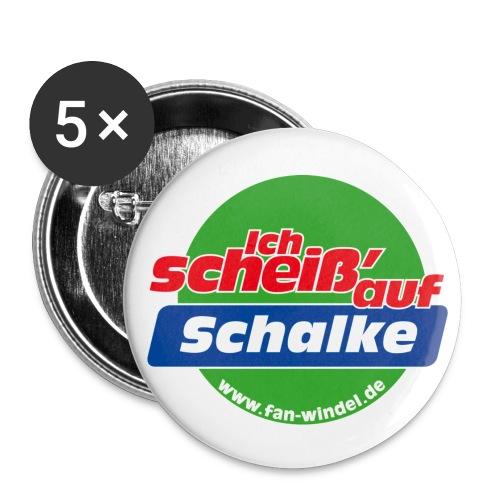 schalke - Buttons groß 56 mm (5er Pack)