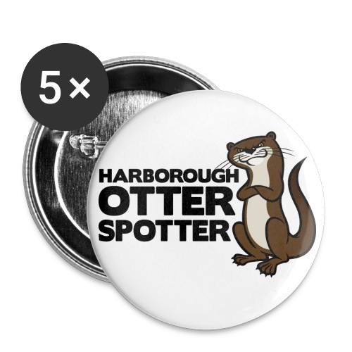 HarbOtterSpotter png - Buttons large 2.2''/56 mm (5-pack)