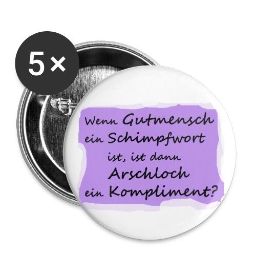 gutmensch2 - Buttons groß 56 mm (5er Pack)