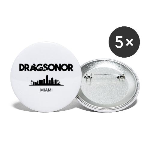 DRAGSONOR Miami skyline - Buttons large 2.2''/56 mm (5-pack)