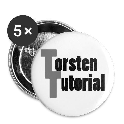 TorstenLogo - Buttons groß 56 mm (5er Pack)