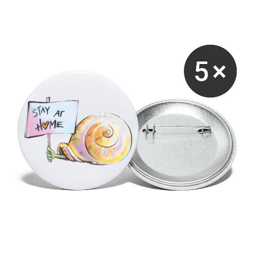 Stay at home - Buttons groß 56 mm (5er Pack)