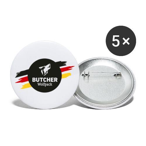 BUTCHER WOLFPACK Logo - Buttons groß 56 mm (5er Pack)