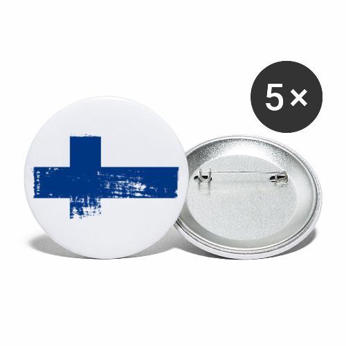 Suomen lippu, Finnish flag T-shirts 151 Products - Rintamerkit isot 56 mm (5kpl pakkauksessa)