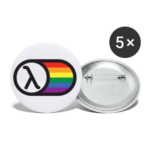 Lambda Regnbuelogo - Buttons/Badges stor, 56 mm (5-pack)