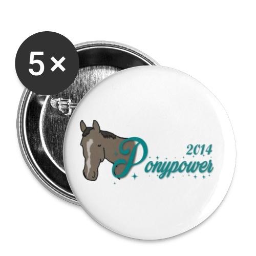 ponyyy - Buttons groß 56 mm (5er Pack)