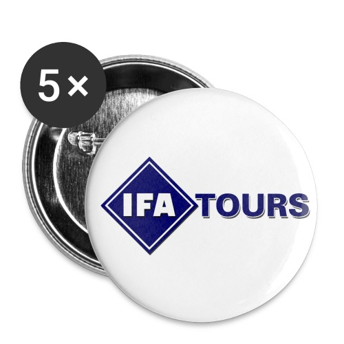 IFA Tours Logo gross - Buttons groß 56 mm (5er Pack)