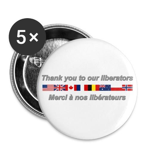 thank you to our liberators png - Lot de 5 grands badges (56 mm)