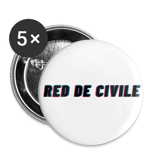 RED DE CIVILE main logo - Buttons/Badges stor, 56 mm (5-pack)