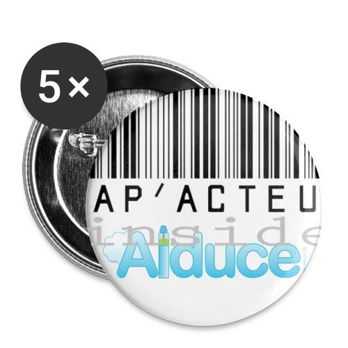 aiduce png - Lot de 5 grands badges (56 mm)