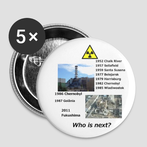 no nuclear button Who is next? - Buttons large 2.2''/56 mm (5-pack)