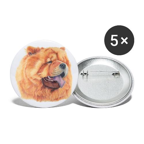chow chow - Buttons/Badges stor, 56 mm (5-pack)