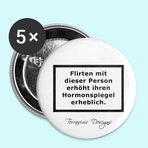 Zu langer Augenkontakt mit dieser Person - Buttons groß 56 mm (5er Pack)