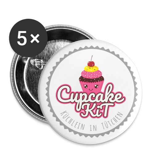 Cupcake KiT - Buttons groß 56 mm (5er Pack)
