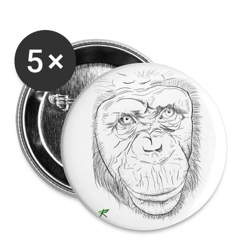 Scimpanzè - Confezione da 5 spille grandi (56 mm)