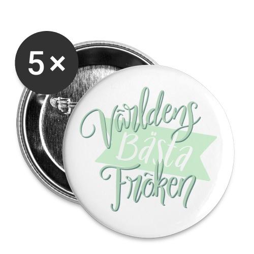 Bästa Fröken Grön - Stora knappar 56 mm (5-pack)