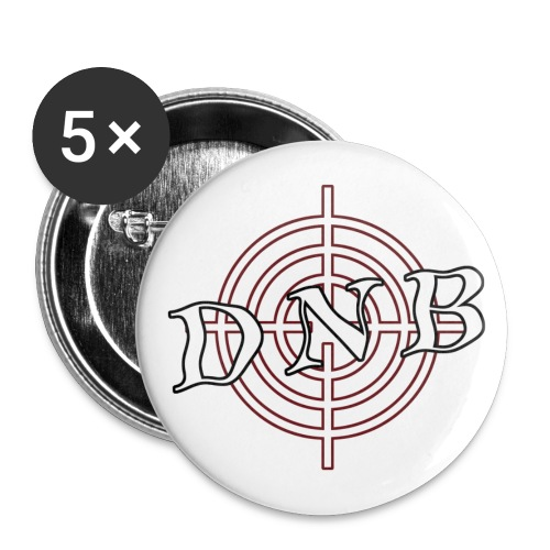 'DNB' Pins - Buttons large 2.2''/56 mm(5-pack)