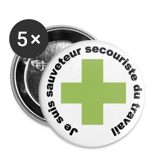 Logo secouriste - Lot de 5 grands badges (56 mm)