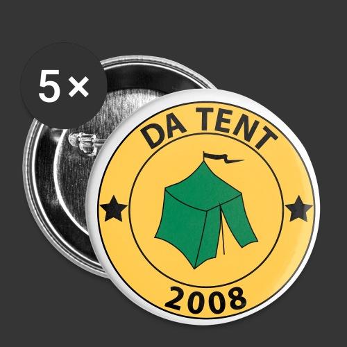 DaTentRundesLogoNeu - Buttons groß 56 mm (5er Pack)