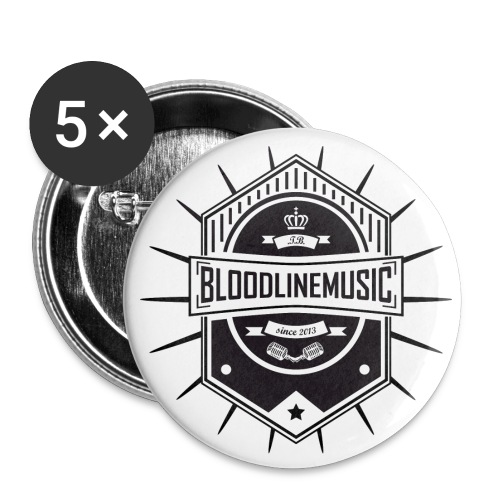 schwarz weiß png - Buttons groß 56 mm (5er Pack)