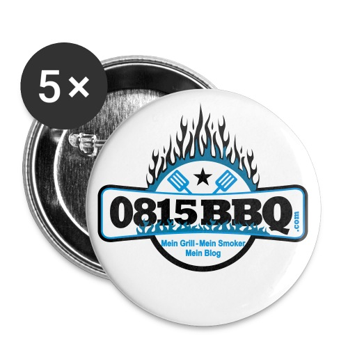 0815BBQ-Girly-Shirt-Kids - Buttons groß 56 mm (5er Pack)