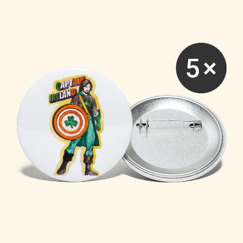 CAPTAIN IRELAND AYHT - Buttons large 2.2''/56 mm (5-pack)