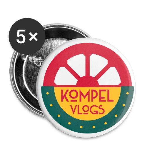 Kompel Vlogs Logo - Buttons groot 56 mm (5-pack)