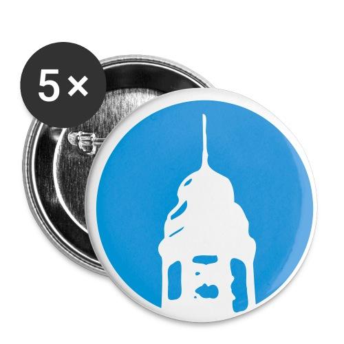 Logo invertiert (Alternative Farben) - Buttons groß 56 mm (5er Pack)