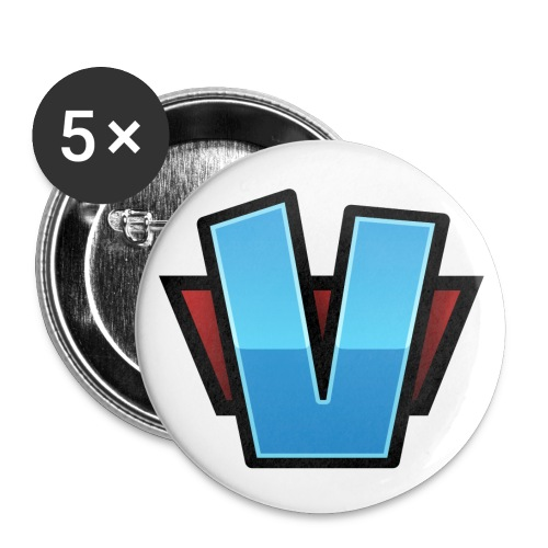 V Logo Hires png - Stora knappar 56 mm (5-pack)