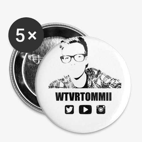 wtvrtommii logo - Buttons large 2.2''/56 mm (5-pack)